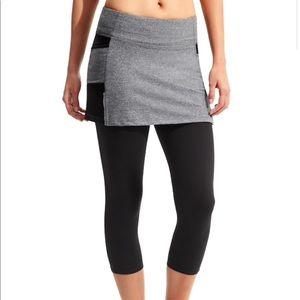 Athleta Be Free 2 in 1 capri leggings skirt Med